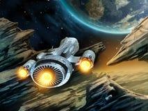Viaggio nello spazio illustrazione vettoriale