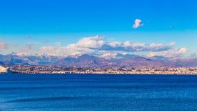 Viaggio a Nizza Vista delle alpi fotografie stock