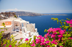Viaggio onirico all'isola di Santorini Immagini Stock