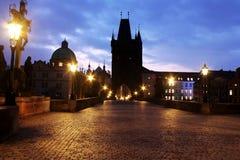 Viaggio per fare un giro turistico della vista della città a Pargue, repubblica Ceca fotografia stock libera da diritti