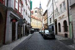 Viaggio per fare un giro turistico della vista della città a Praga, repubblica Ceca fotografie stock libere da diritti
