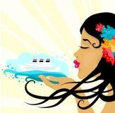 Viaggio per mare di estate Immagine Stock Libera da Diritti