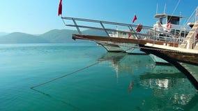 Viaggio per mare in Turchia video d archivio