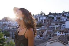 Viaggio in pieno della felicità e della gioia fotografia stock libera da diritti