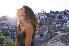 Viaggio in pieno della felicità e della gioia fotografia stock