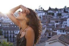 Viaggio in pieno della felicità e della gioia fotografie stock libere da diritti