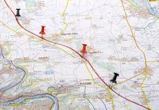 Viaggio previsto Fotografia Stock