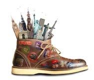 Viaggio, scarpe Immagine Stock