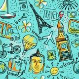 Viaggio senza cuciture di estate del aboun del modello di vettore Illustrazione Vettoriale
