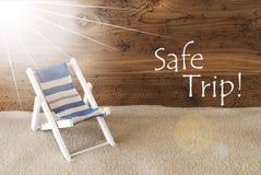 Viaggio sicuro di Sunny Greeting Card And Text di estate Fotografia Stock Libera da Diritti