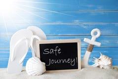 Viaggio sicuro di Sunny Summer Card With Text Fotografia Stock
