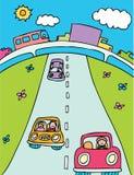 Viaggio stradale illustrazione vettoriale