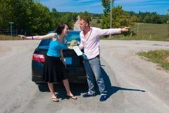 Viaggio stradale - che è giusto w Fotografie Stock Libere da Diritti