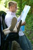 Viaggio stradale - completamente perso Fotografie Stock Libere da Diritti