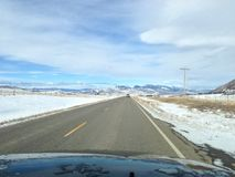 Viaggio stradale del Montana immagini stock libere da diritti