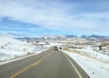 Viaggio stradale del Montana immagine stock
