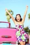 Viaggio stradale dell'automobile di vacanza di estate Fotografie Stock