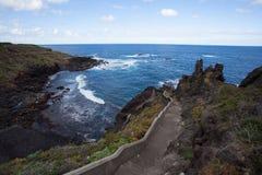Viaggio stradale della costa su Tenerife Immagine Stock