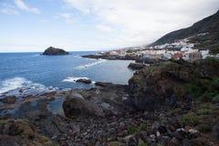 Viaggio stradale della costa su Tenerife Fotografia Stock