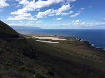 Viaggio stradale della costa su Tenerife Fotografia Stock Libera da Diritti