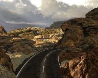 Viaggio stradale di Canyonlands Fotografia Stock