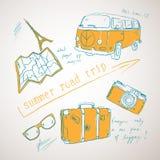 Viaggio stradale di estate royalty illustrazione gratis