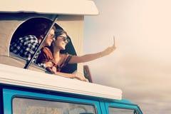 Viaggio stradale di estate Immagini Stock Libere da Diritti
