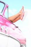 Viaggio stradale di festa di vacanza dell'automobile Fotografie Stock Libere da Diritti