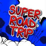 Viaggio stradale eccellente - frase di stile del libro di fumetti illustrazione vettoriale