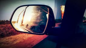 Viaggio stradale nella sera immagine stock libera da diritti
