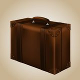 Viaggio Suitecase di Brown. Illustrazione di vettore Immagini Stock