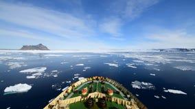 Viaggio sul rompighiaccio nel ghiaccio, Antartide archivi video