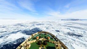 Viaggio sul rompighiaccio nel ghiaccio, Antartide video d archivio
