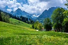 Viaggio in Svizzera a Schwarzsee Fotografia Stock