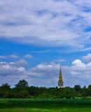 Viaggio tailandese, cielo e tempio Immagini Stock