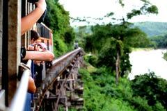 Viaggio in treno Immagine Stock