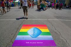 Viagra ad printed on the ground Royalty Free Stock Photography