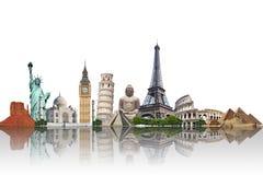 Viaja o conceito dos monumentos do mundo Fotos de Stock