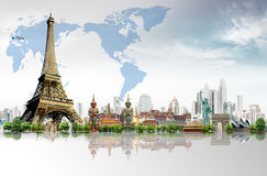 Viaja o mundo Foto de Stock Royalty Free