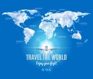 Viaja o projeto do mundo Foto de Stock