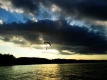 Viajam a praia e o mar bonitos Fotografia de Stock