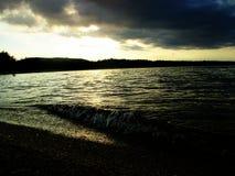Viajan la playa y el mar hermosos Imagen de archivo libre de regalías