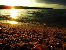 Viajan la playa y el mar hermosos Fotos de archivo