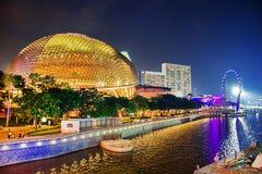 Viajando, arte da arquitetura, fundo, Singapura Imagens de Stock Royalty Free