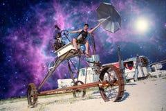 Viajando a galáxia foto de stock royalty free