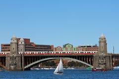 Viajando no rio de Charles, Boston, miliampère fotografia de stock royalty free