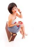 Viajante bonito da mulher nova fotografia de stock