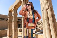 Viajante bonito - Egito Fotos de Stock Royalty Free