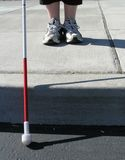 Viajante cego Foto de Stock Royalty Free