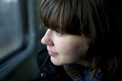 Viajante Daydreaming Imagens de Stock